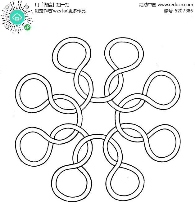 免费素材 矢量素材 室内装饰 其他装饰 灵动的线条图案  请您分享