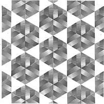 六边形阴影组合花纹