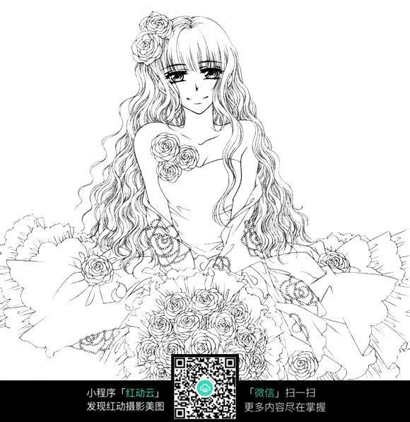 手捧鲜花的准新娘