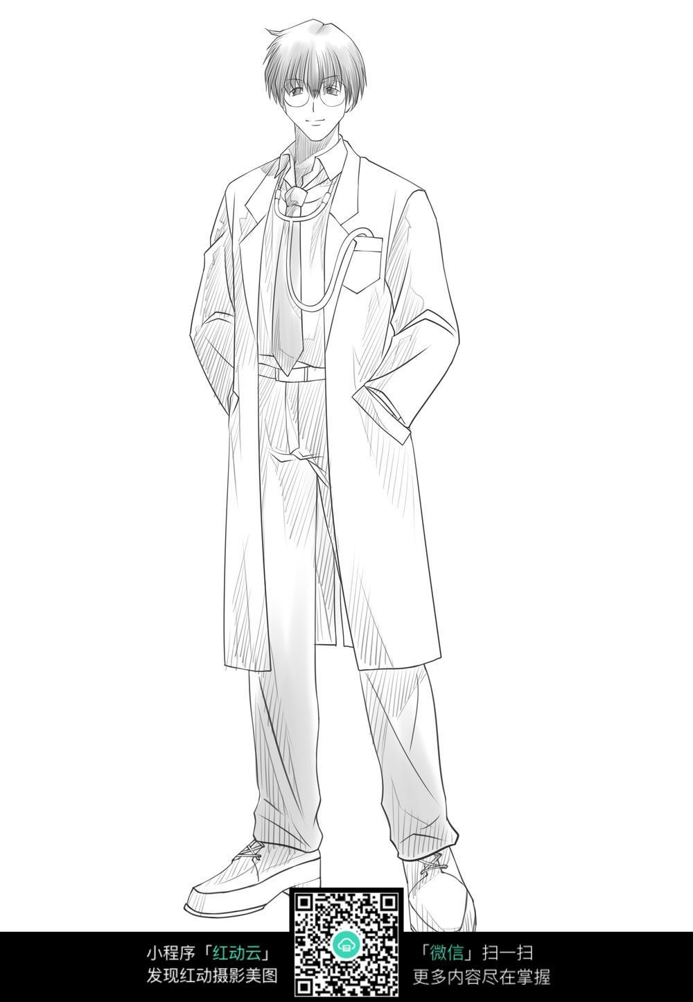 医生卡通手绘图片