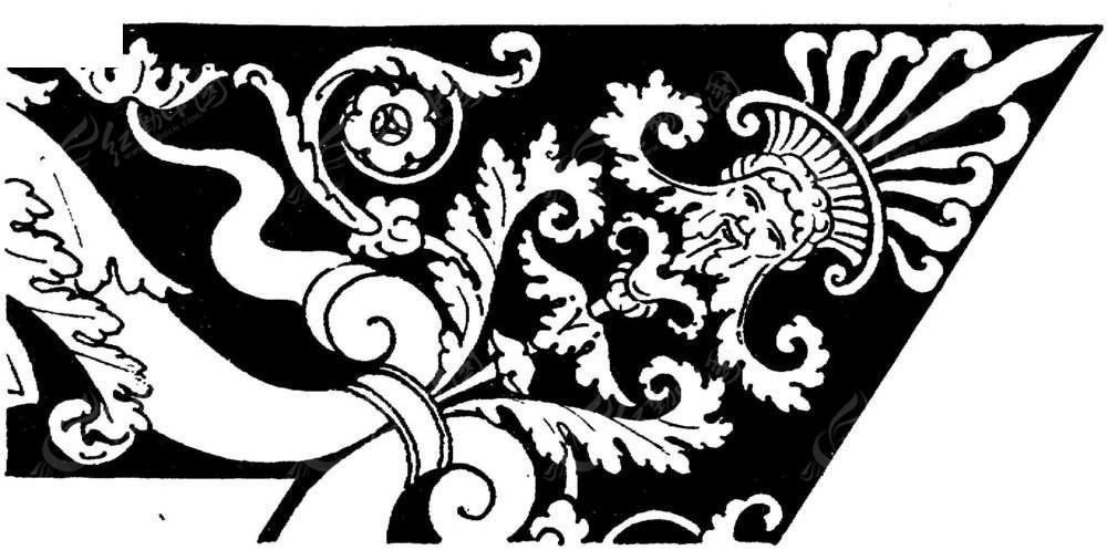边角欧式神话花纹图片