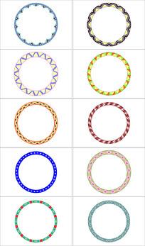 创意圆形花纹设计素材