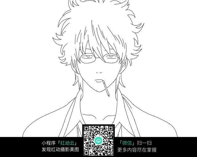 男生 戴眼镜 格式 手绘