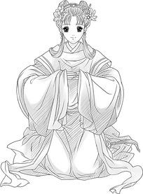 端庄的古代女人