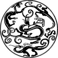 汉代装饰龙纹