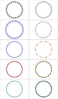 简单圆形花纹设计素材