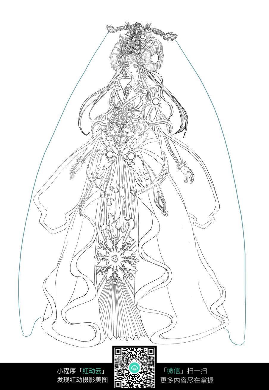 卡能新娘手绘线稿