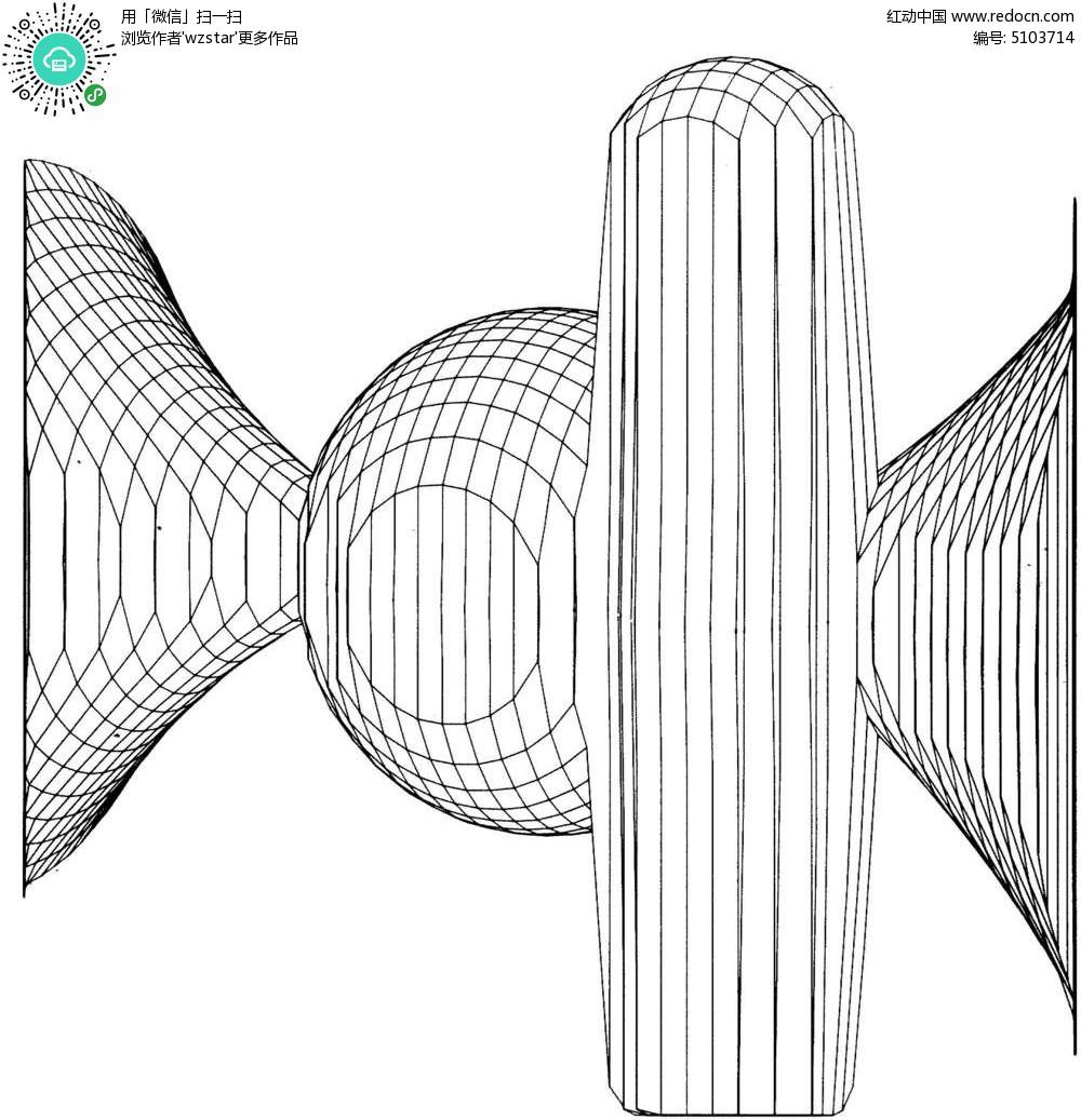 立体圆形圆柱网格TIF素材免费下载 编号5103714 红动网图片