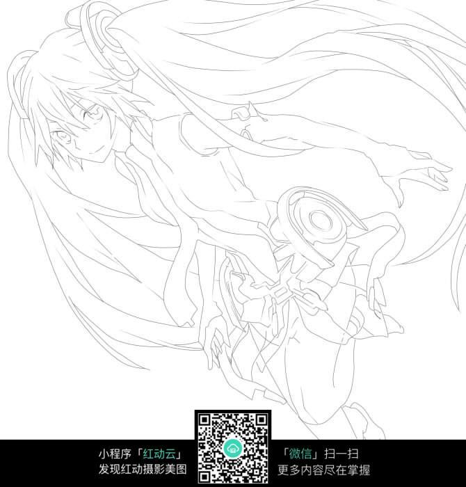 手绘初音未来_人物卡通图片