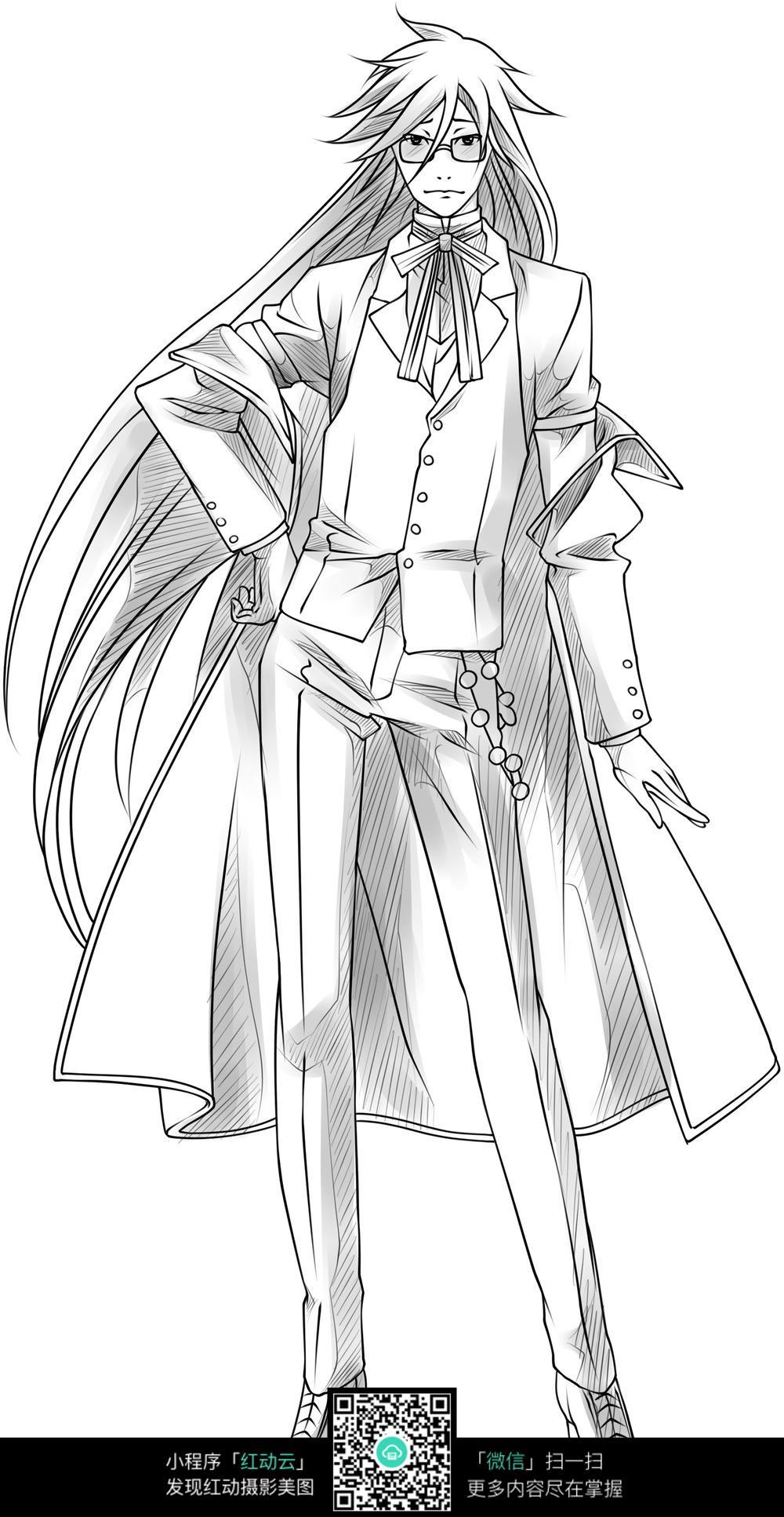手绘 插图 卡通人物 动漫人物 动漫动画 设计    漫画人物 人物绘画