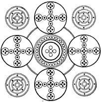 四角圆环花纹