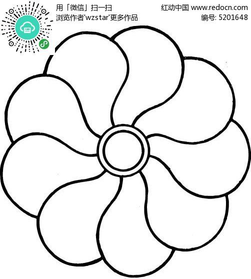 线条圆形花朵AI素材免费下载 编号5201648 红动网