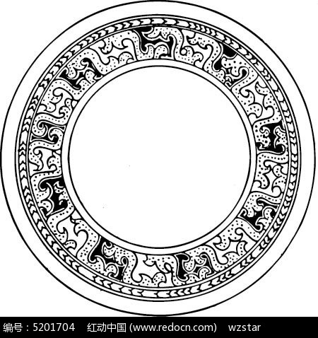 圆环黑白花纹