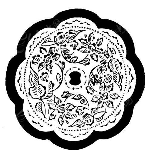 圆形植物花朵花纹