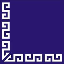 中式蓝色隔断雕花图案