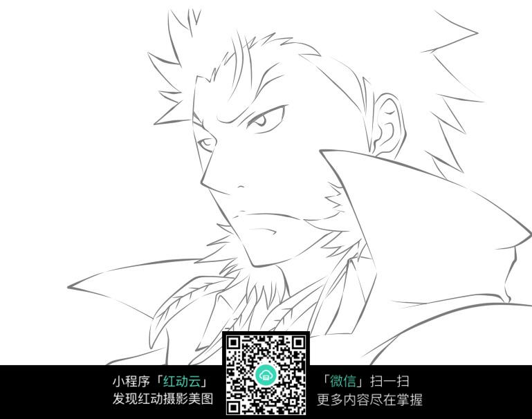 xanxus侧面头像手绘图图片