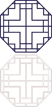 八边形简单镂空图案