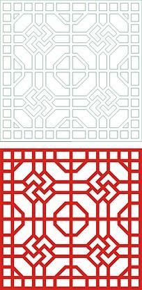 方形对称边框花纹