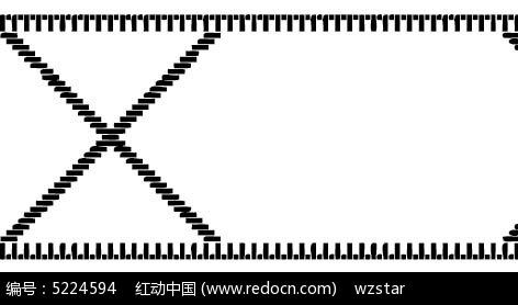 黑白虚线线框花纹AI素材免费下载 编号5224594 红动网