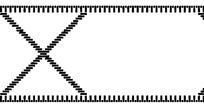 黑白虚线线框花纹