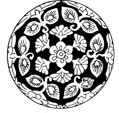 黑白植物花卉图案ai免费下载_其他装饰素材