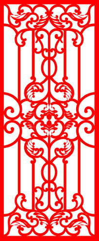 简约红色边框