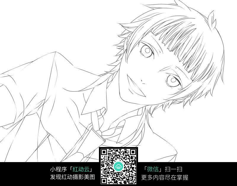 可爱漫画男生_人物卡通图片