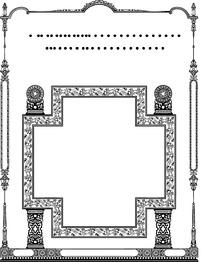 欧式几何边框花纹