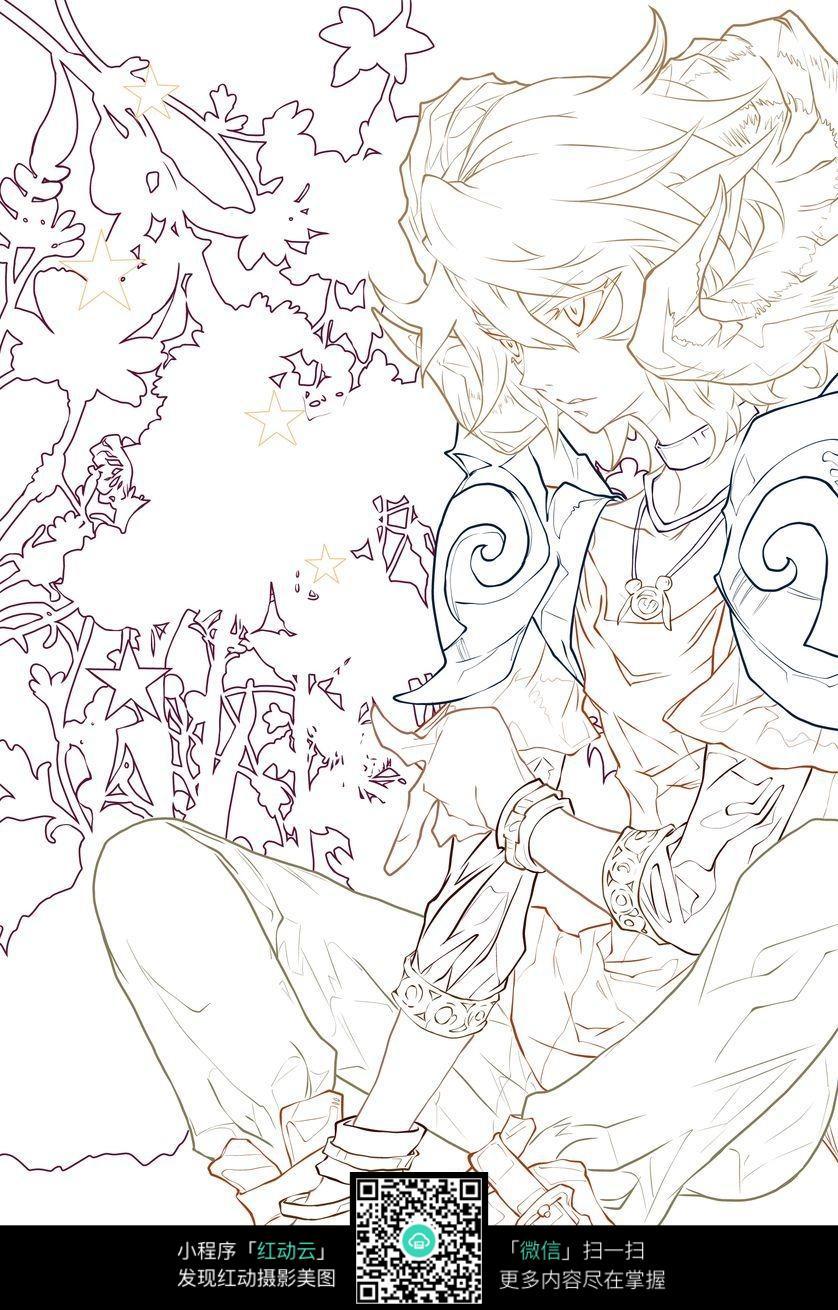 森林简笔画手绘图片