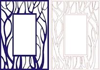 树木枝桠花纹边框