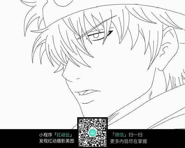 坂田银时头像手绘图