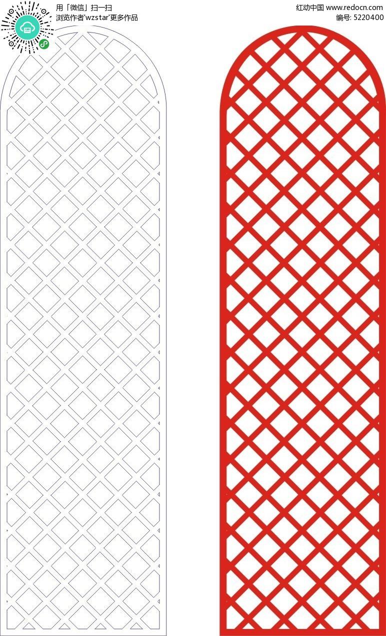 网格古典花纹边框 黑白线稿图片