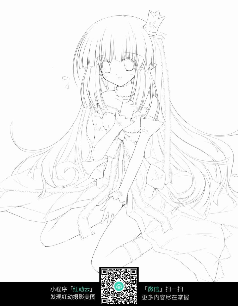 小公主手绘插画