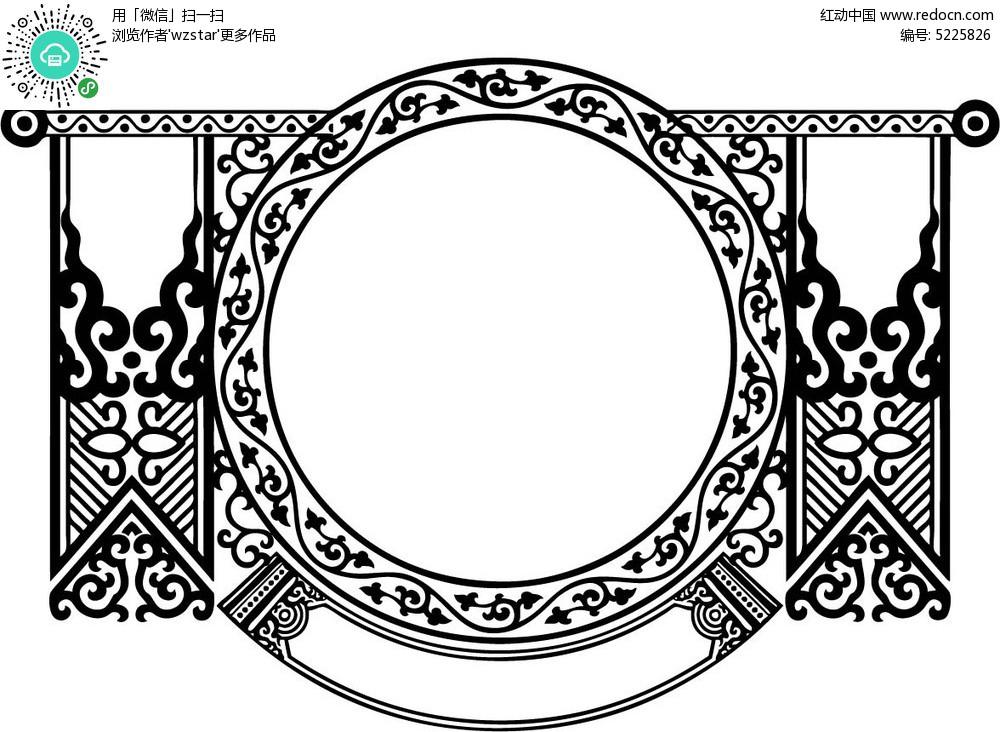 矢量欧式边框图案