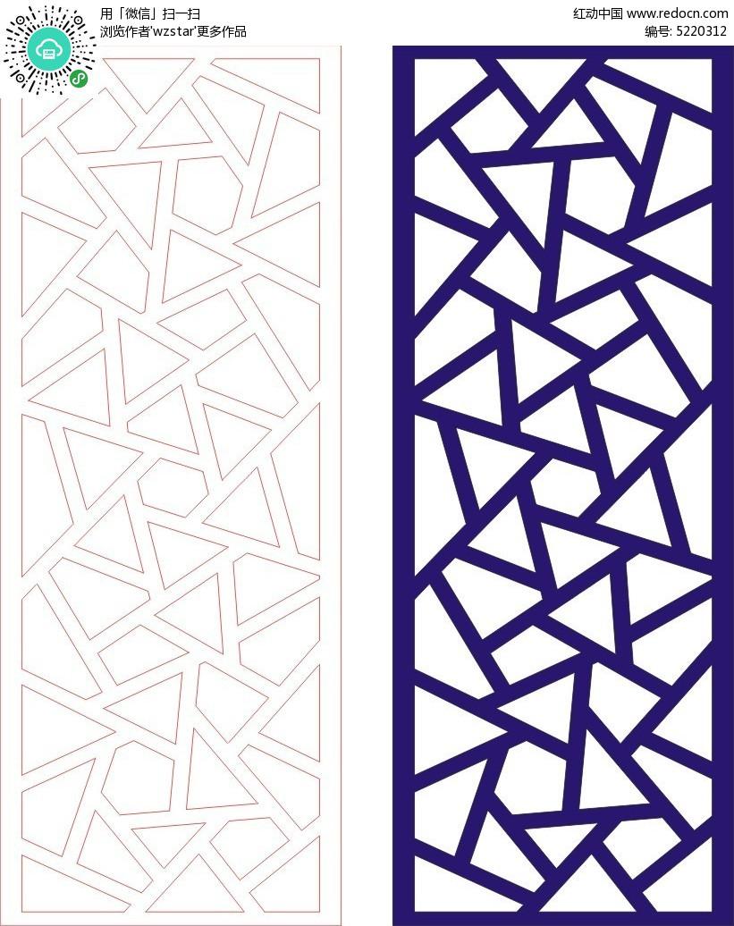 中式几何组合花纹边框cdr免费下载图片