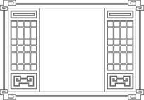 边框镂空木雕参考图