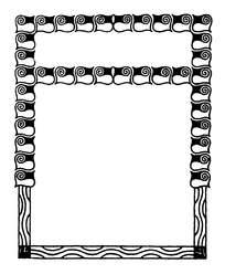 标题与正文边框设计矢量素材