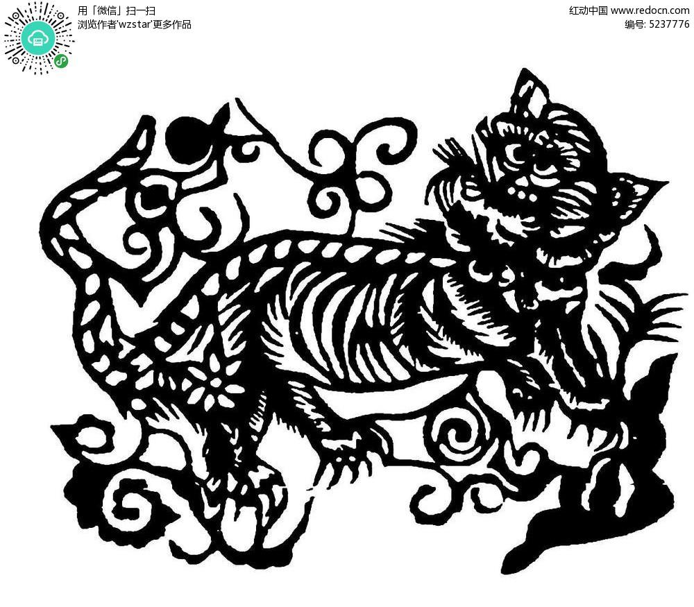 抽象老虎图案