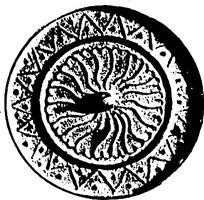 抽象鱼类浮雕镂空圆纹