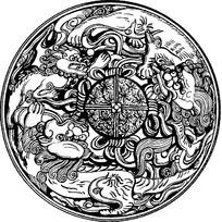 传统麒麟图案