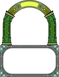 拱门边框纹理雕刻参考图
