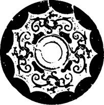 古代环形龙纹图案