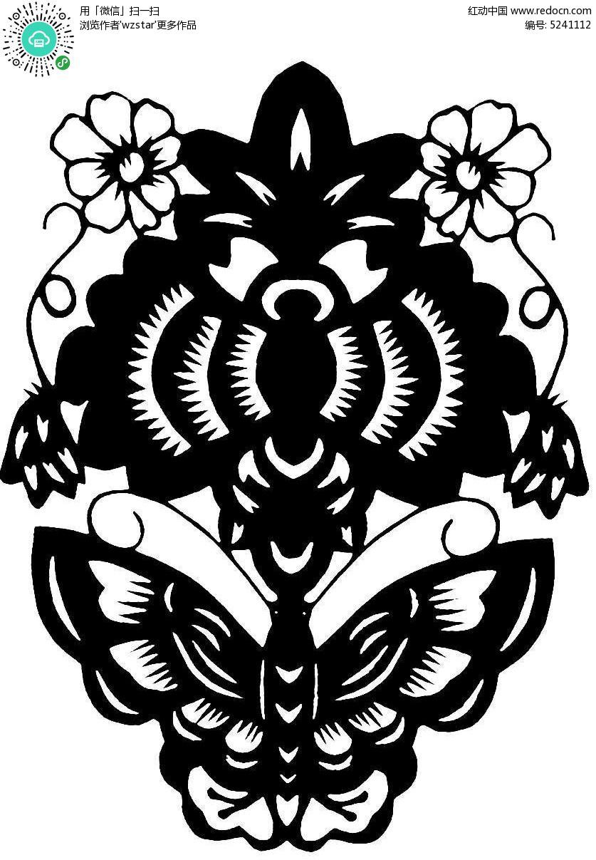 花朵蝴蝶图案图片