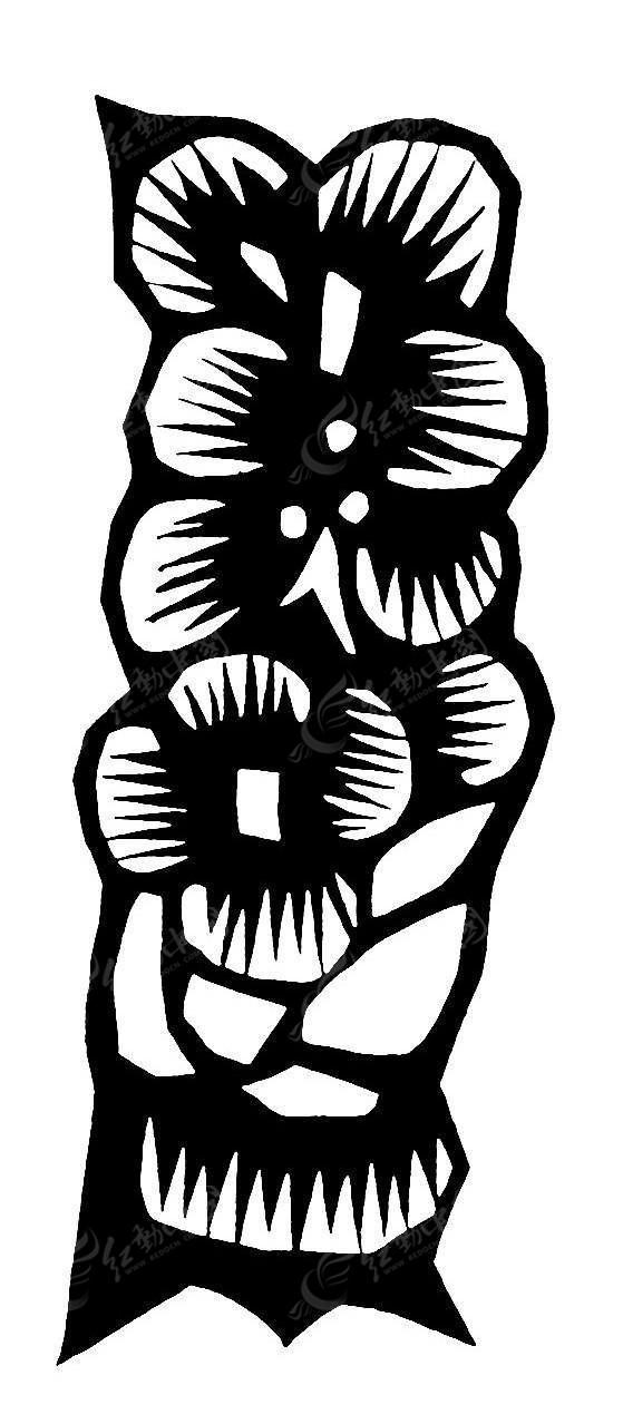 花朵剪纸素材图片图片