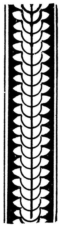 简单串型重叠排列的花纹花边设计