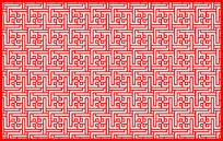 交互镂空边框剪纸图案参考