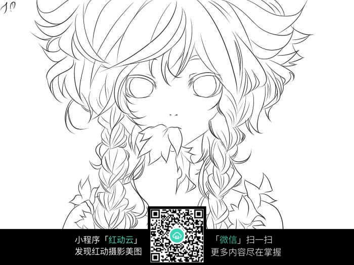 卡通漫画女人线稿图片免费下载(编号5226236)_红动网