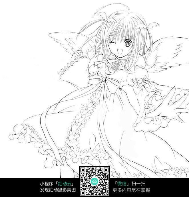 可爱漫画女生_人物卡通图片