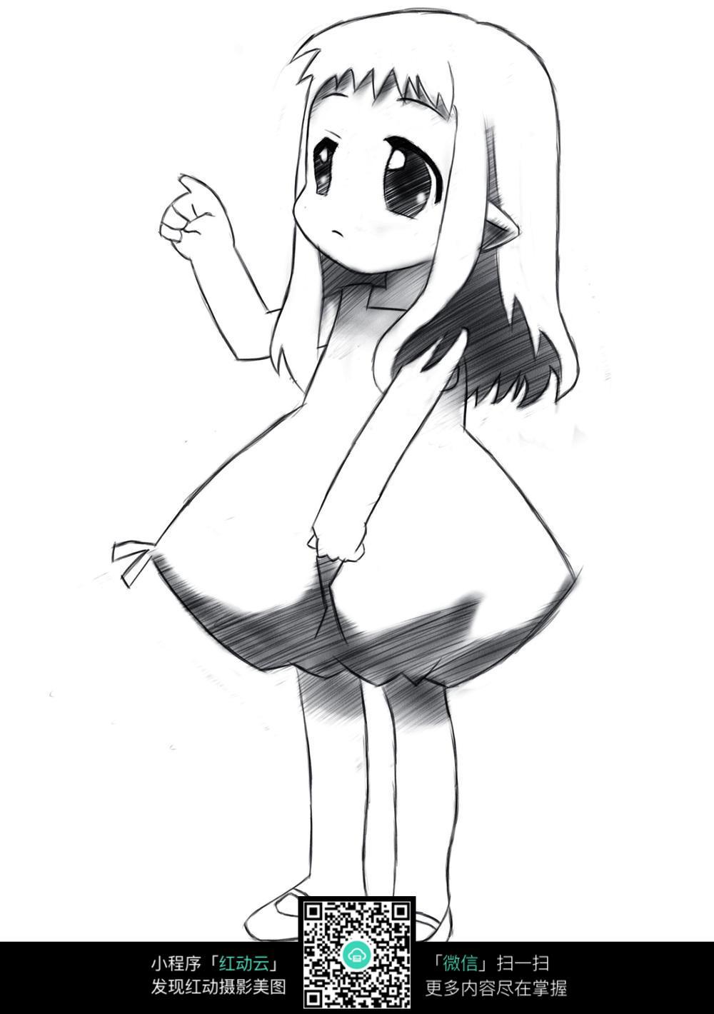 免费素材 图片素材 漫画插画 人物卡通 可爱小女孩漫画