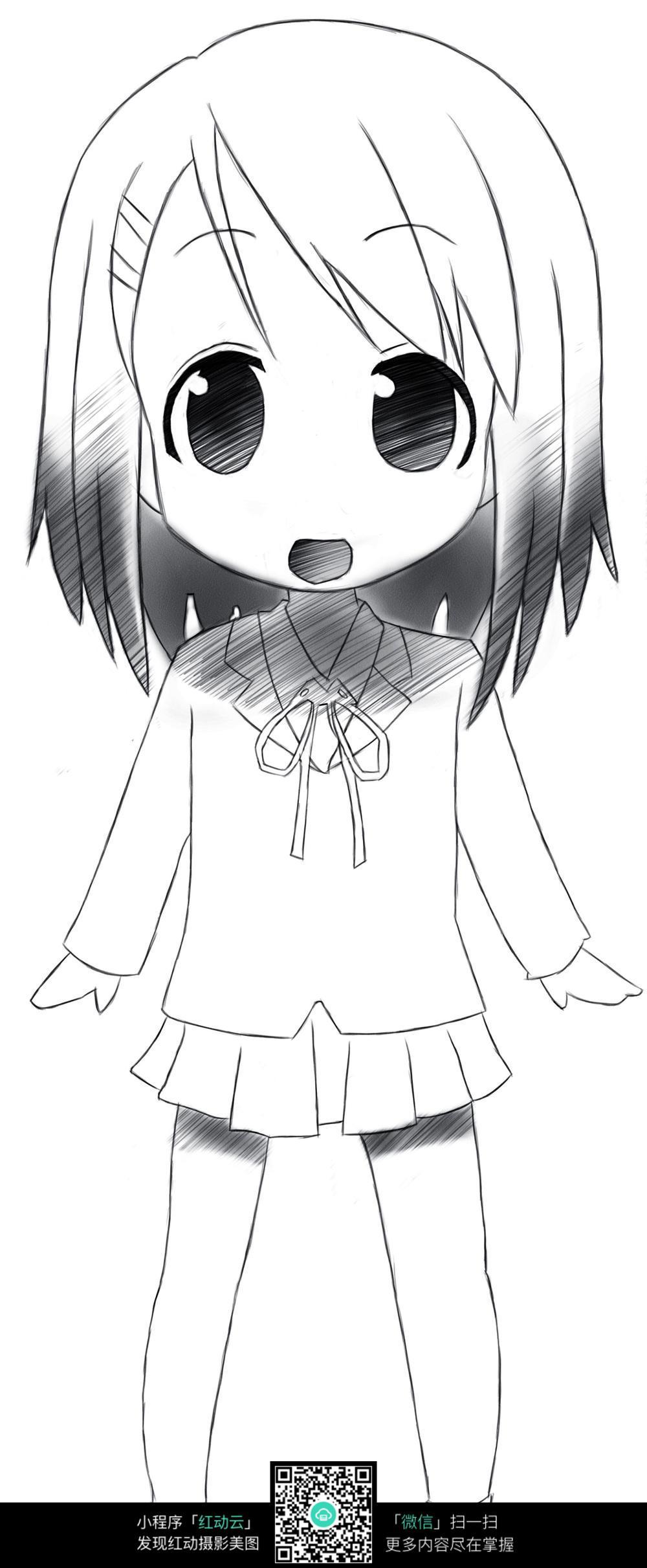 可爱小女孩漫画
